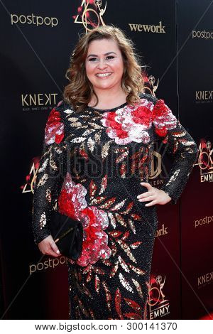 PASADENA - May 5: Anjelica McDaniel at the 46th Daytime Emmy Awards Gala at the Pasadena Civic Center on May 5, 2019 in Pasadena, California