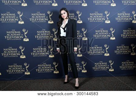 PASADENA - May 3: Sasha Calle in the press room at the 46th Daytime Creative Arts Emmy Awards Gala at the Pasadena Civic Center on May 3, 2019 in Pasadena, CA