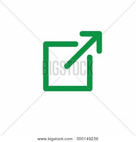 External Link Icon - Box And Arrow - Ui Or Ux Icon