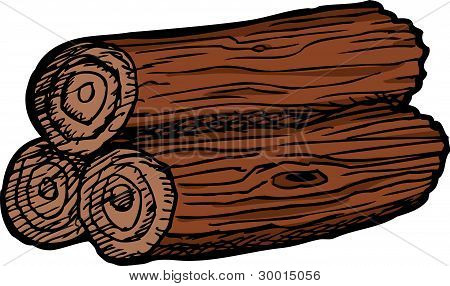 Pile Of Three Logs