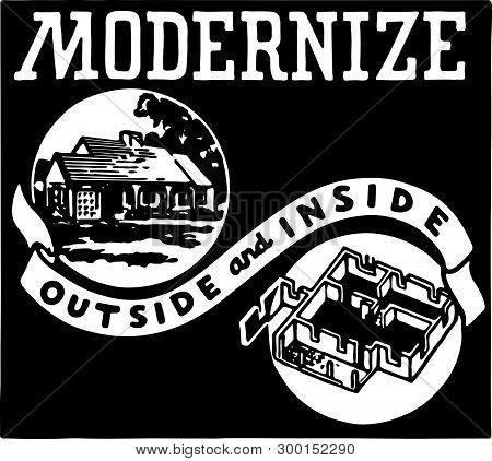 Modernize - Retro Ad Art Banner For Renovations