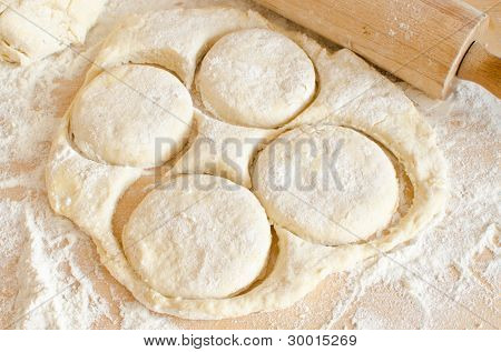 Preparing biscuits (scones)