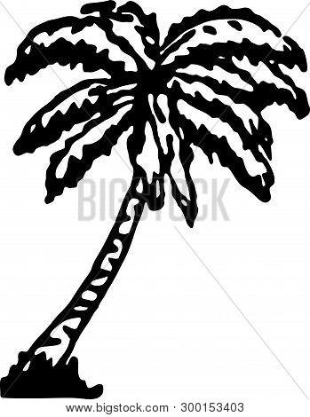 Palm Tree - Retro Ad Art Banner