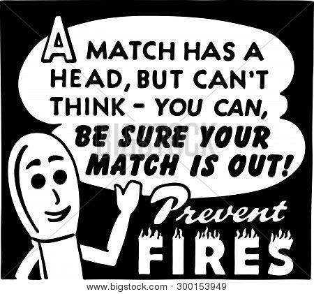 Prevent Fires - Retro Ad Art Banner