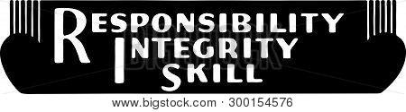 Responsibility Integrity Skill - Retro Ad Art Banner