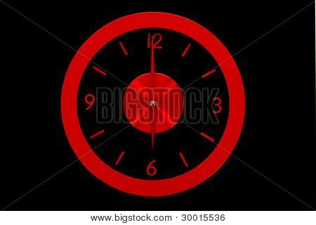 beautiful clock on the wall, 6a.m., 6p.m., business concept