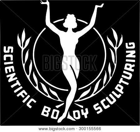 Scientific Body Sculpturing - Retro Ad Art Banner