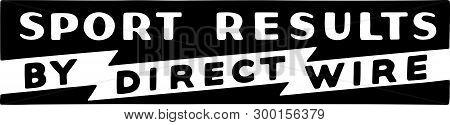 Sport Results 2 - Retro Ad Art Banner