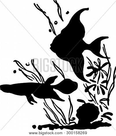 Tropical Fish - Retro Ad Art Illustration Aquarium Fish
