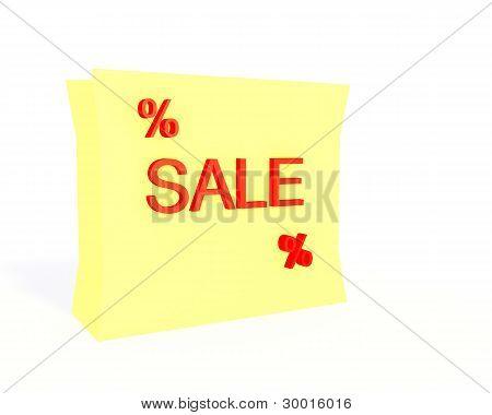 Sale Shopping Bag 3D