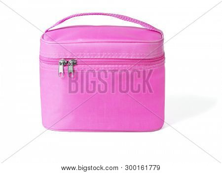 Pink Vanity Beauty Bag on White Background