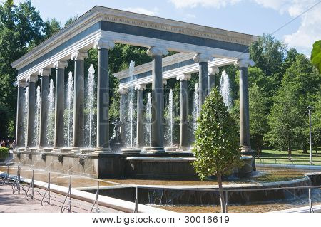 Peterhof Fountain. Lion Cascade. Russia.