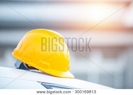 Safety Helmet Engineering Construction Worker Equipment, Helmet In Construction Site And Constructio