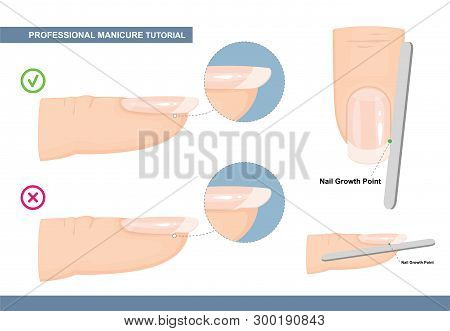 Professional Manicure Tutorial. The Perfect Nail Shape. How To File Nails The Right Way. Manicure Mi
