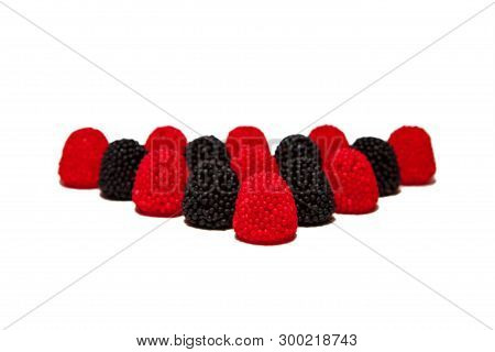 Berries of gelatin isolated on a white poster