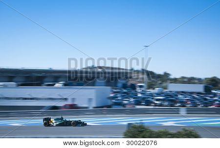 Kovalainen Test Driving His New Caterham 2012