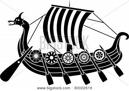 Ancient vikings ship