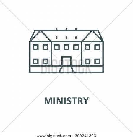 Ministry Vector Line Icon, Linear Concept, Outline Sign, Symbol