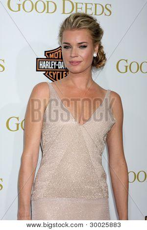 LOS ANGELES - FEB 14:  Rebecca Romijn arrives at the