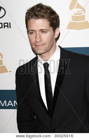 LOS ANGELES - FEB 11:  Matthew Morrison arrives at the Pre-Grammy Party hosted by Clive Davis at the Beverly Hilton Hotel on February 11, 2012 in Beverly Hills, CA