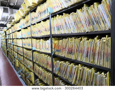 Document Control Room In Hospital For Important Documents.abstract.data File. Important File.importa