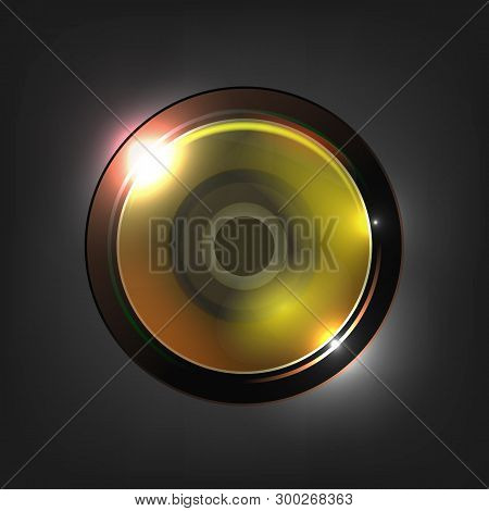 Realistic High Quality Camera Photo Lens Vector. Photographic Lens Used In Mechanism To Make Images