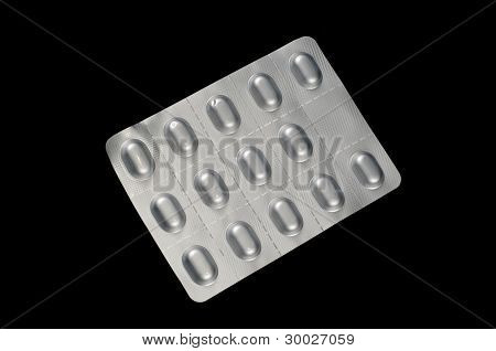 Some aluminium pill package