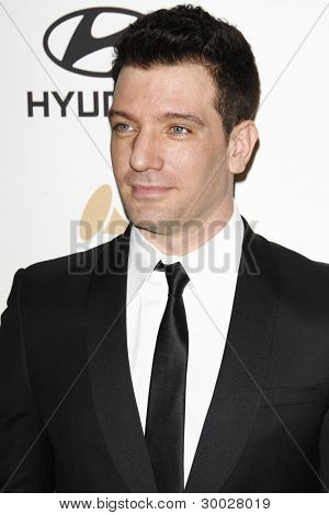 LOS ANGELES - FEB 11:  JC Chasez arrives at the Pre-Grammy Party hosted by Clive Davis at the Beverly Hilton Hotel on February 11, 2012 in Beverly Hills, CA