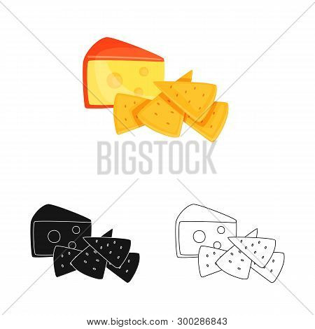 Vector Design Of Cracker And Appetizer  Symbol. Collection Of Cracker And Lactic Stock Symbol For We