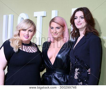 LOS ANGELES - MAY 8:  Rebel Wilson, Meghan Trainor, Anne Hathaway at