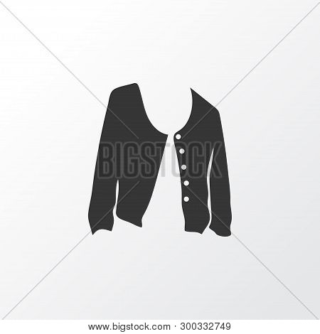 Short Cardigan Icon Symbol. Premium Quality Isolated Jacket Element In Trendy Style.