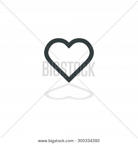 Heart Icon Vector. Perfect Love Symbol. Valentine S Day Sign, Emblem Isolated On White Background Wi