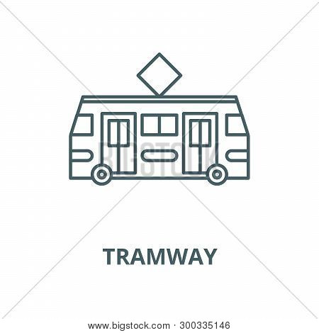 Tramway Vector Line Icon, Linear Concept, Outline Sign, Symbol