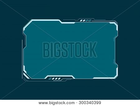 Hud Futuristic User Interface Screen Element. Virtual Dashboard. Abstract Control Panel Layout Desig