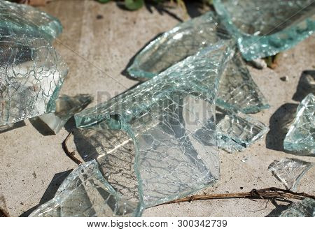 Close Photo Of Shatters Of Broken Glass
