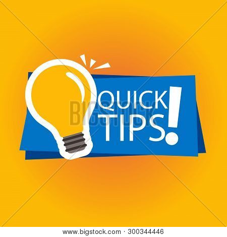 Modern Quick Tips Composition With Flat Design- Vector Illustrator.ai