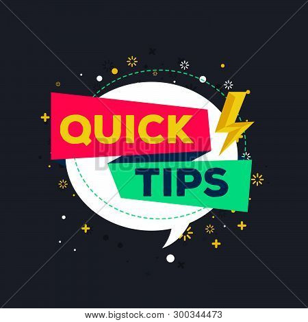 Quick Tips Flat Vector Illustration On Black Background 13.ai