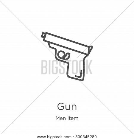 Gun Icon Isolated On White Background From Men Item Collection. Gun Icon Trendy And Modern Gun Symbo