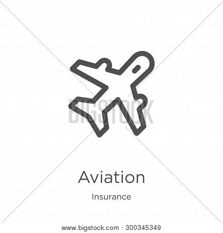 Aviation Icon Isolated On White Background From Insurance Collection. Aviation Icon Trendy And Moder