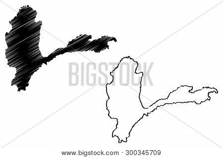 Badakhshan Province (islamic Republic Of Afghanistan, Provinces Of Afghanistan) Map Vector Illustrat