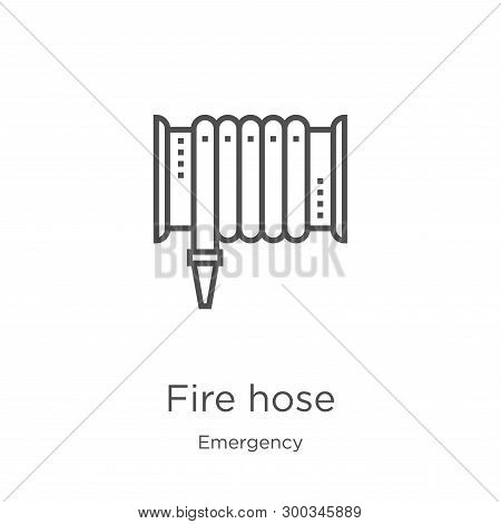 Fire Hose Icon Isolated On White Background From Emergency Collection. Fire Hose Icon Trendy And Mod