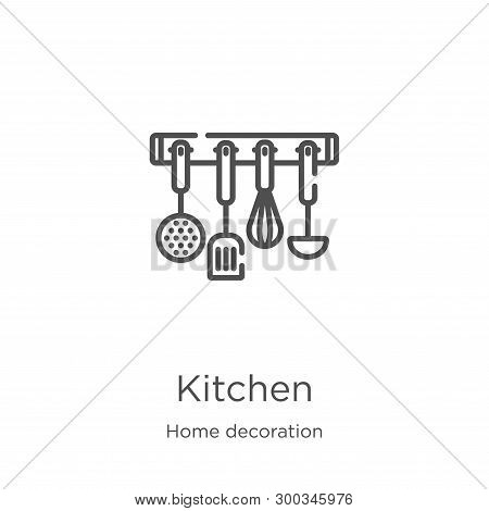 poster of kitchen icon isolated on white background from home decoration collection. kitchen icon trendy and modern kitchen symbol for logo, web, app, UI. kitchen icon simple sign. kitchen icon flat vector illustration for graphic and web design.