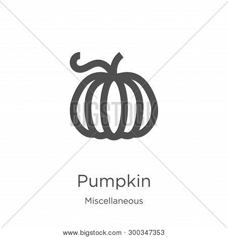 Pumpkin Icon Isolated On White Background From Miscellaneous Collection. Pumpkin Icon Trendy And Mod