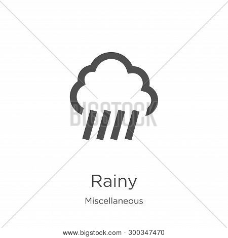 Rainy Icon Isolated On White Background From Miscellaneous Collection. Rainy Icon Trendy And Modern