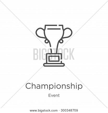 Championship Icon Isolated On White Background From Event Collection. Championship Icon Trendy And M