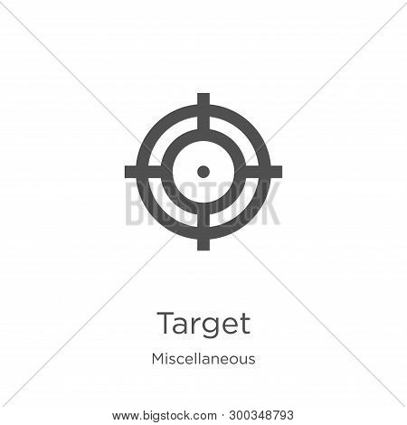 Target Icon Isolated On White Background From Miscellaneous Collection. Target Icon Trendy And Moder
