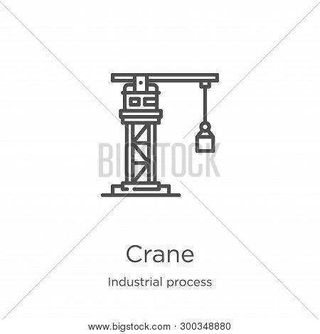 Crane Icon Isolated On White Background From Industrial Process Collection. Crane Icon Trendy And Mo