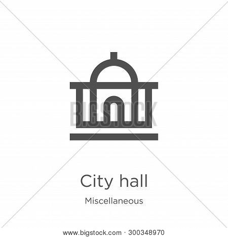 City Hall Icon Isolated On White Background From Miscellaneous Collection. City Hall Icon Trendy And
