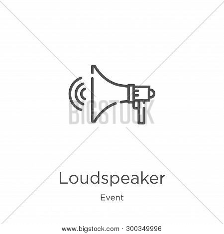 Loudspeaker Icon Isolated On White Background From Event Collection. Loudspeaker Icon Trendy And Mod