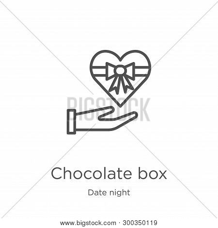Chocolate Box Icon Isolated On White Background From Date Night Collection. Chocolate Box Icon Trend